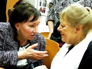 Anna Benešová s Milenou Černou