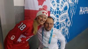 Oldřich Jelínek s kanadskou fanynkou