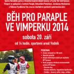 Pozvánka na Běh pro Paraple ve Vimperku