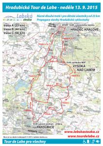 leták Hradubická Tour de Labe 13-9-2015
