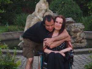 Monika Křístková s manželem