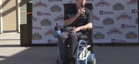 Nový typ invalidního vozíku jezdí na vzduch