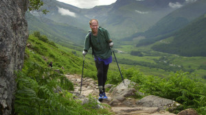 Jamie Andrew, 47, from Edinburgh, scaled the Alpine summit using prosthetic legs and specially adapted poles.