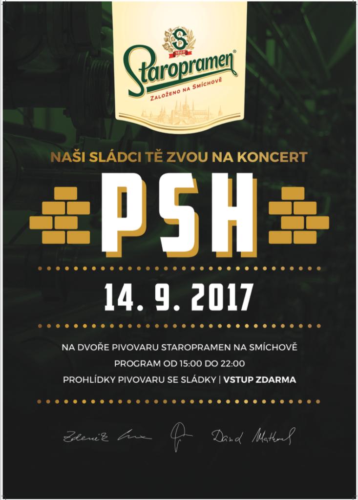 PLAKÁT ke koncertu v areálu Staropramenu