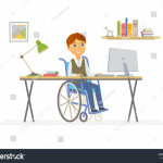 stock-vector-online-education-modern-vector-illustration-of-happy-disabled-junior-school-boy-student-working-704118544