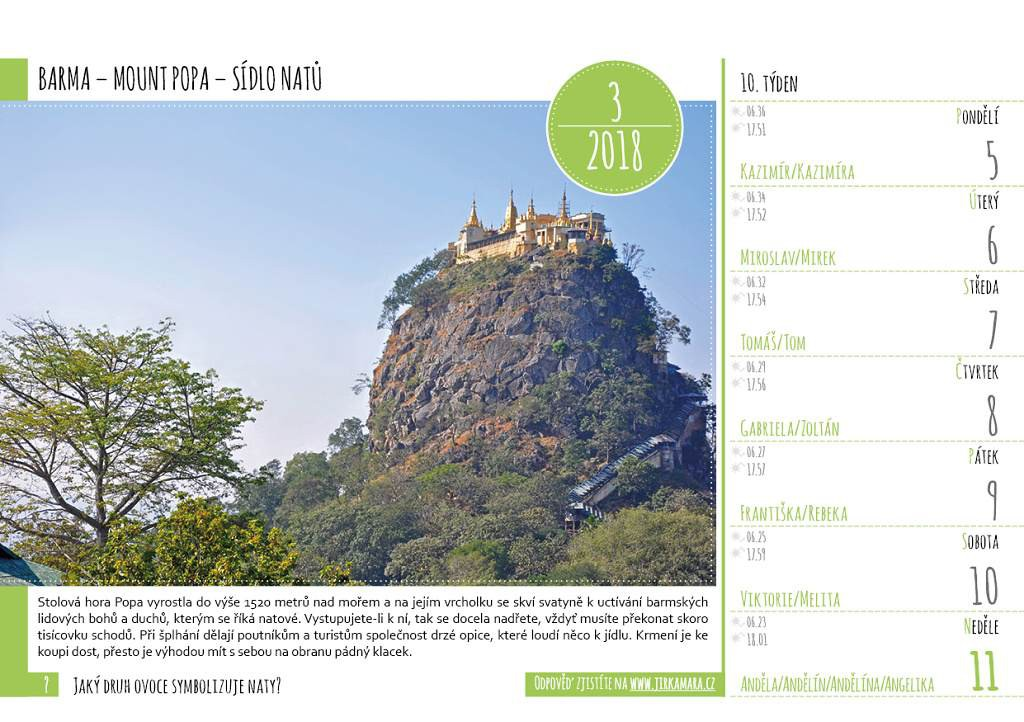 ukázková stránka kalendáře K MÉMU ČLÁNKU